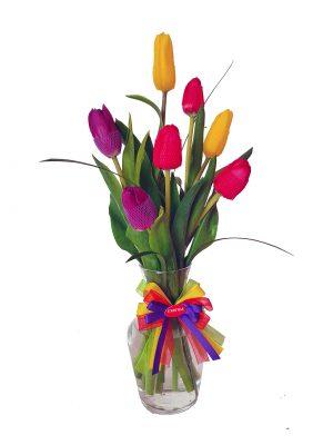 Florero x7 tulipanes